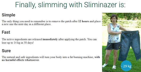 sliminazer slimming patch